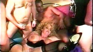 matures big tits gang-fuck two