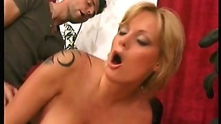 Big tits ash-blonde whore banging pink cigar
