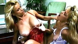 Hot undergarments gals fuck on the floor