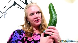 Europemature Solo With Classical Cucumber Sextoy