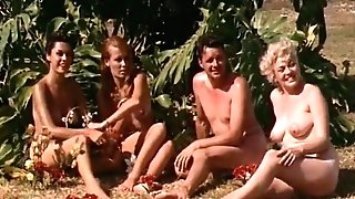 Naked Femmes Having Joy at a Naturist Resort (1960s Antique)